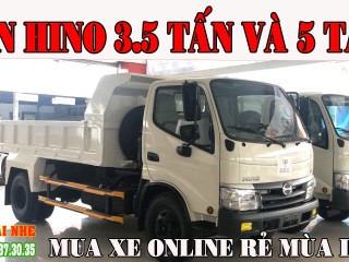 Xe Ben Hino 300 Chuyên Chở VLXD   Giá Xe Ben Hino 3T5 Và 5 Tấn Thùng 3.7 Khối