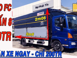 Hino FC 6 Tấn 8 Mui Bạt Nhôm 5m6 - Xe Tải Hino Fc 500